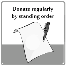 Donate regularly by standing order